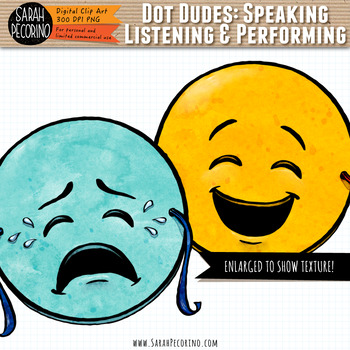 Dot Dudes Speaking Listening and Performing Clip Art