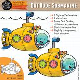 Dot Dudes Submarine Clip Art {FREE}