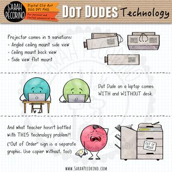 Dot Dudes Technology Clip Art