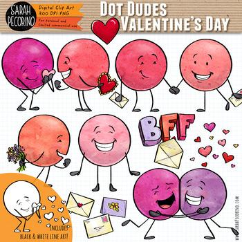 Dot Dudes Valentine's Day Clip Art