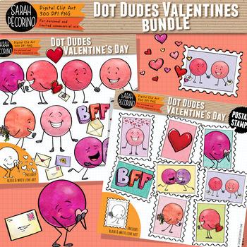 Dot Dudes Valentine's Day Clip Art BUNDLE