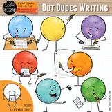 Dot Dudes Writing Clip Art