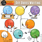 Dot Dudes Writing Clip Art