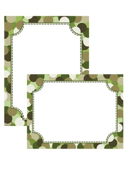 Dot Frames & Borders Clip Art for Personal and Commercial Use!