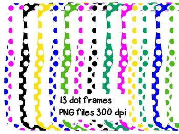 Dot Frames Colors and Black and White