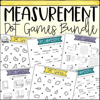 Measurement Dot Games Bundle: Area, Perimter, Volume, & Measurement Conversions