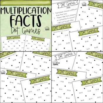 Operations Dot Games Bundle: Add, Subtract, Multiply, & Divide Math Centers