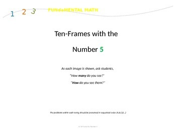 Five and Ten-Frame Dot Images for Numbers 3-10