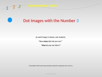Dot Images for the Number 3