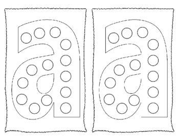 Dot-It Bingo Dauber Lower Case Alphabet Letter No Prep Worksheets ~  All Letters