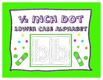Dot-It Bingo Dauber Lower Case Alphabet Letter No Prep Wor