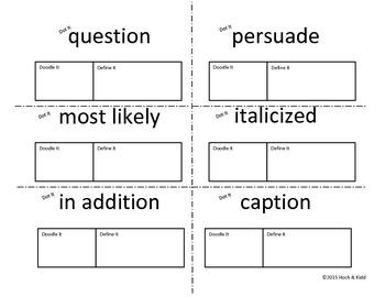 Dot It, Doodle It, Define It: Working with Academic Vocabulary