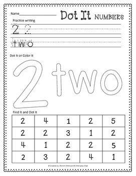 Dot-It Numbers {NO PREP}