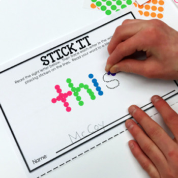 Dot It - Paint It - Stick It - Editable, Engaging Letter and Sight Word Practice