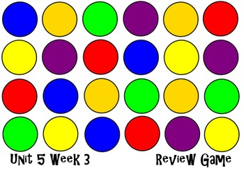 Dot & Jabber Unit 5 Week 3. Smart Board Review Game. Readi