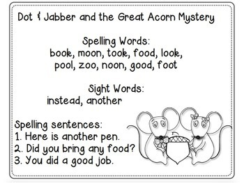 Reading Street, DOT AND JABBER AND THE GREAT ACORN MYSTERY, Supplemental Pack
