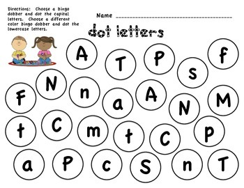 Dot Letters- 3 pack