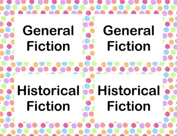 Dot Library Labels for All Grades