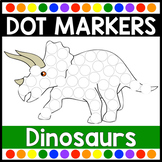 Dot Marker Activities | Dinosaur Dot Marker Pages for Do a Dot Markers