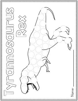 Dot Marker Activities   Dinosaur Dot Marker Pages for Do a Dot Markers