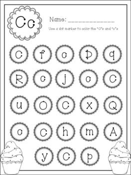 Dot Marker Alphabet Letter Find [BLACK/WHITE]