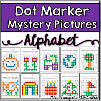 Alphabet Dot Marker Mystery Picture Activities