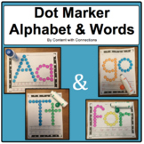 Dot Marker Alphabet & Sight Words Bundle: Use with Bingo Markers