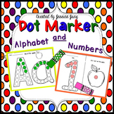 Dot Marker Alphabet and Numbers