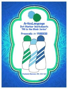 Dot Marker Articulation & Language Activity Prevocalic /r/