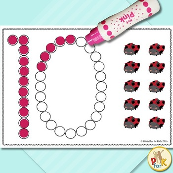 Dot Marker Counting Activity
