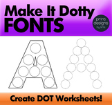 Dot Marker Font - Make it Dotty Fonts - Dot a Letter Font