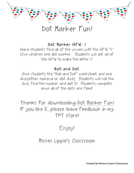 Dot Marker Fun