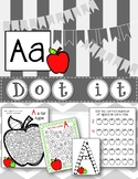 Dot Marker. Letter A. Alphabet. Worksheets