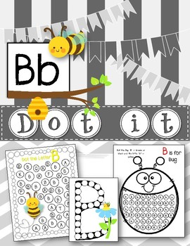 Dot Marker. Letter B. Alphabet. Worksheets