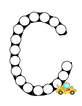 Dot Marker. Letter C. Alphabet. Worksheets