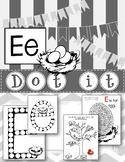 Dot Marker. Letter E. Alphabet. Worksheets