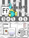 Dot Marker. Letter F. Alphabet. Worksheets