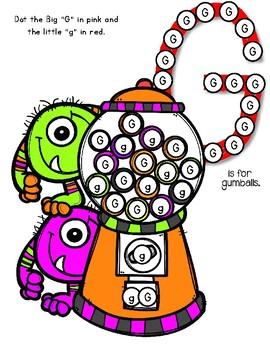 Dot Marker. Letter G. Alphabet. Worksheets