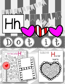 Dot Marker. Letter H. Alphabet. Worksheets