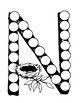 Dot Marker. Letter N. Alphabet. Worksheets
