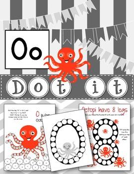 Dot Marker. Letter O. Alphabet. Worksheets