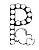 Dot Marker. Letter P. Alphabet. Worksheets