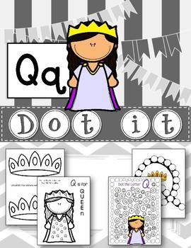 Dot Marker. Letter Q. Alphabet. Worksheets