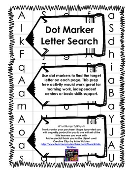 Dot Marker Letter Search