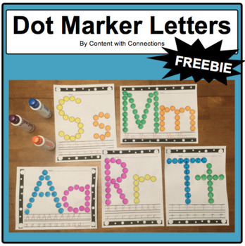 Dot Marker Letters: 5 Free Letters to Stamp with Bingo Markers