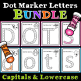 Dot Marker Letters Bundle- Capitals and Lowercase