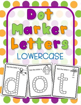 Dot Marker Letters- Lowercase