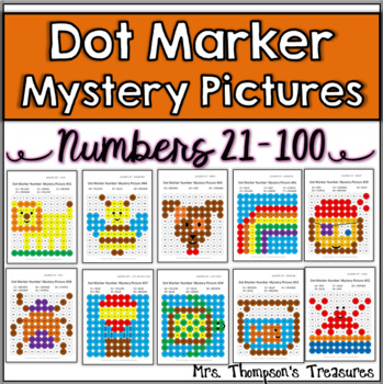 Dot Marker Mystery Picture Activities - Numbers 21-100