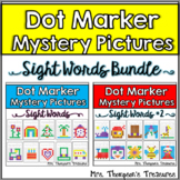 SIGHT WORDS - Dot Marker Mystery Pictures BUNDLE