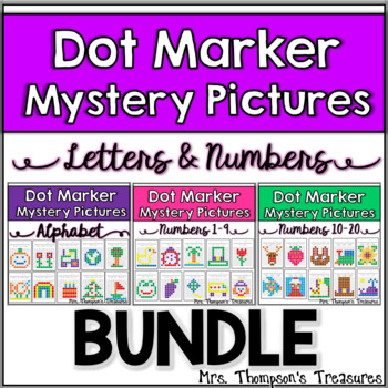 Dot Marker Pictures Letters & Numbers Bundle for Preschool & Kindergarten